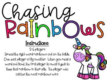 Chasing Rainbows {Dolch Sight Words Games Bundle}