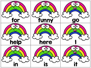 Chasing Rainbows {Pre-Primer Dolch Sight Words Game}
