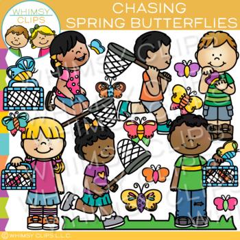 Chasing Butterflies: Spring Clip Art