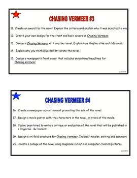 Chasing Vermeer Task Cards 65 Comprehension Activities