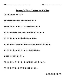 Chasing Vermeer Code Letters