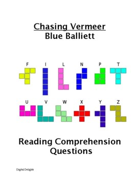 Chasing Vermeer Comprehension Questions and Book Test