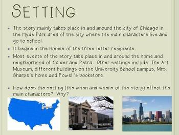 Chasing Vermeer, by B. Balliett, Interactive Novel PowerPoint