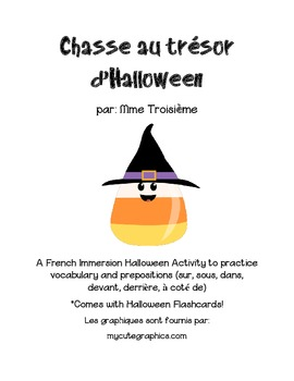 Chasse au trésor d'Halloween (prépositions et vocabulaire d'Halloween)