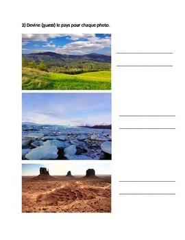 Chasse au trésor: comparing climate and country locations (français)