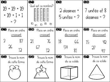 Chasse aux calculs - Activité de math de Pâques