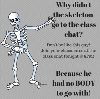 Chat Reminder skeleton joke