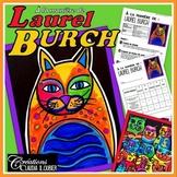 Arts plastiques: Chats à la manière de Laurel Burch plan de cours en français