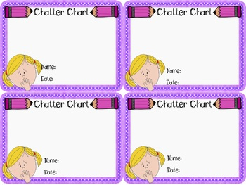 Chatter Chart: Accountability chart for talkative students
