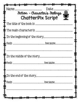 ChatterPix Student Scripts