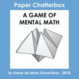 Chatterbox game - MENTAL MATH