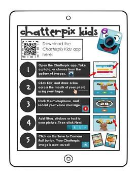 Chatterpix kids app sheet