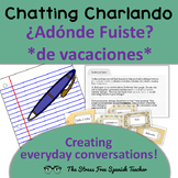 Spanish Past Tense Dialogue Writing, the verb ir, Preterit, Adonde Fuiste?