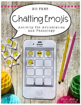 NO PREP Speech Therapy Activity: Chatting Emojis