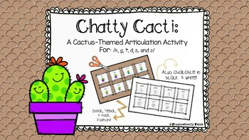 Chatty Cacti Articulation Activity