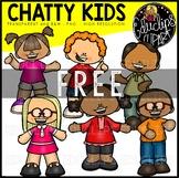 Chatty Kids Clip Art Mini Bundle {Educlips Clipart}