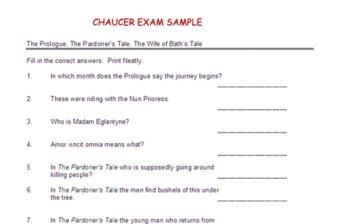 Chaucer Exam