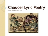 Chaucer Lyric Poetry PowerPoint and Questions