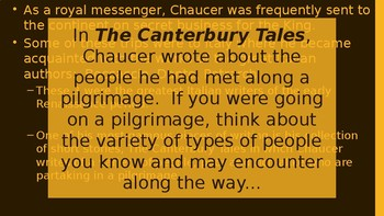Chaucer - Pilgrimage Writing Lesson
