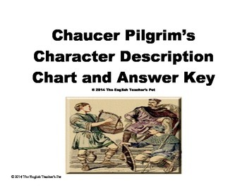 Chaucer Pilgrim's Character Description Chart and Answer Key