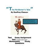 Chaucer - The Pardoner's Tale  22 page PACKET (tests, work