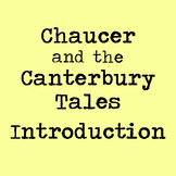 Chaucer and the Canterbury Tales Introduction Lesson w/ Activity & Guided Notes