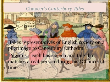 Chaucer's Canterbury Tales--Intro and Technology Assn PP 21 sl