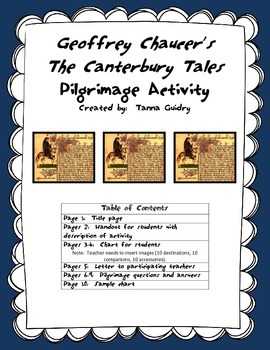 Chaucer's Canterbury Tales (Let's Go on a Pilgrimage! Activity)