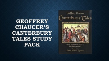 Geoffrey Chaucer's Canterbury Tales Study Pack with FREE P
