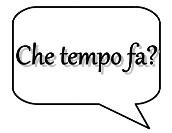 Che Tempo Fa? Thermometer Display Chart for the Italian Classroom
