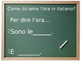 Che ore sono? Lesson on telling time in Italian