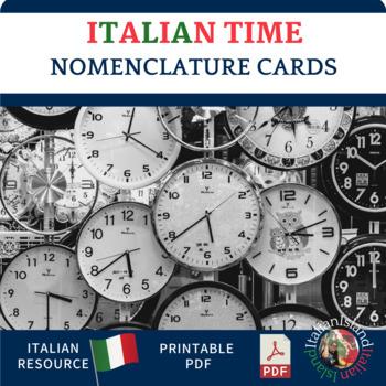 Che ore sono? Nomenclature Cards