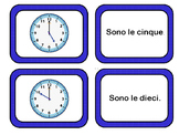 Che ore sono?  Telling Time Flashcards and Memory Game Italian Italiano