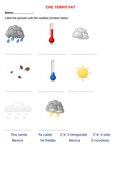 Che tempo fa? The weather