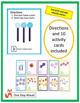 Math Center- Flower Stems (K-1)