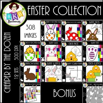Cheaper By The Dozen ● Easter Collection ● Clip Art ● Bundle
