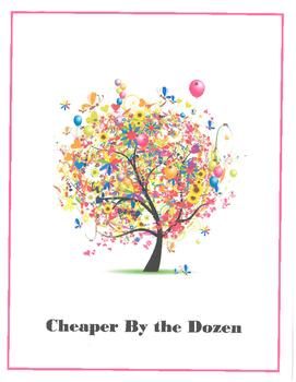 Cheaper By the Dozen Novel Activities