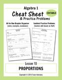 Cheat Sheet 10: Proportions (Editable)