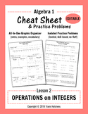 Cheat Sheet 2: Operations on Integers (Editable)