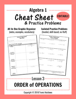 Cheat Sheet 3: Order of Operations (Editable)
