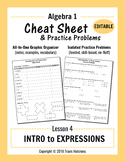 Cheat Sheet 4: Introduction to Expressions (Editable)