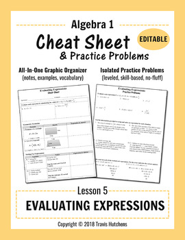 Cheat Sheet 5: Evaluating Expressions (Editable)