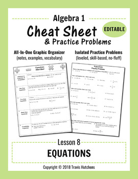Cheat Sheet 8 : Equations (Editable)