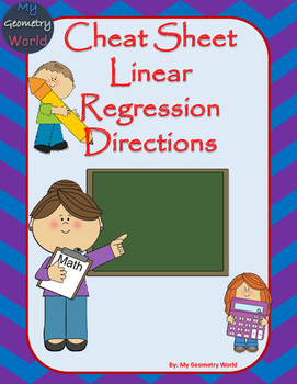 Cheat Sheet: Calculator Linear Regression Directions