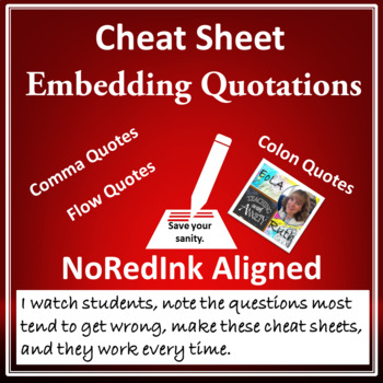 Cheat Sheet: Embedding Quotations (NoRedInk aligned)
