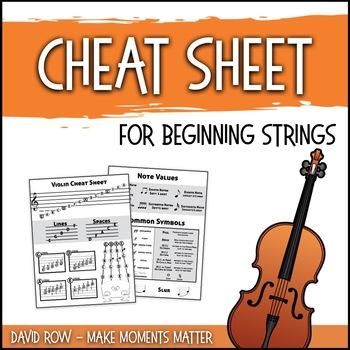 Cheat Sheet for Beginning Strings - Handout