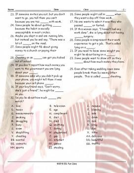 Cheaters-Dishonesty Crossword Puzzle