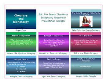 Cheaters-Dishonesty PowerPoint Presentation