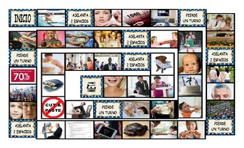 Cheaters and Dishonesty Spanish Legal Size Photo Board Game