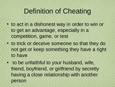 Cheating: It's a Big Problem